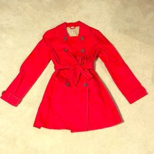 Old Navy Red Trench Coat